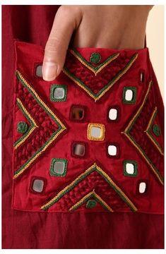 Hand Embroidery Dress, Kurti Embroidery Design, Hand Embroidery Videos, Hand Embroidery Tutorial, Embroidery On Clothes, Embroidery Works, Flower Embroidery Designs, Creative Embroidery, Simple Embroidery