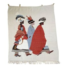 This is an amazing handwoven mohair tapestry from Setsoto Designs in Lesotho, Africa. This particular piece was woven by Lydia Lipholo. White Art, Black And White, Xhosa, Textile Art, Kids Fashion, Fashion Design, Vintage Antiques, Hand Weaving, African
