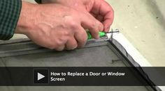 DIY video: How to Replace a Door or Window Screen. Here's a simple way to complete a DIY screen repair.