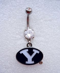 Wow, I want this -  BYU BRIGHAM YOUNG UNIVERSITY COUGARS Navel Belly Button Ring Body Jewelry Piercing
