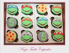 Ninja Turtle Cupcakes Ninja Turtle Cupcakes, Ninja Turtles, Atticus, Yoshi, Ideas, Thoughts, Tmnt