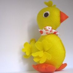 how to make a duck bill out of felt