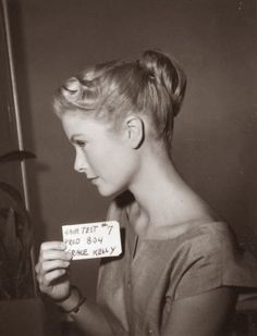 Grace Kelly hair test.