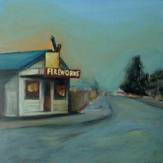 "Saatchi Art Artist Sarah Ann Mitchell; Painting, ""Fireworks"" #art"