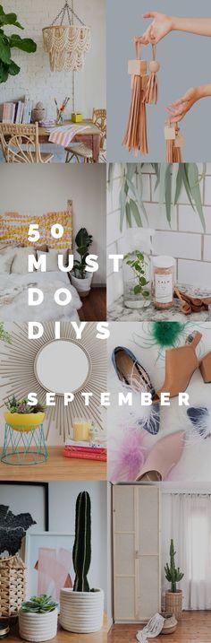 50 Must do DIYs September is ready now!