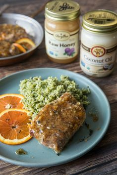 Honey Dijon Garlic Pork Chops- 4 servings  3 tablespoons Aunt Patty'sⓇ Organic Refined Coconut Oil 6 garlic cloves, minced ⅓ cup GloryBeeⓇ Organic Clover Honey 2 tablespoons whole grain Dijon mustard Salt and black pepper to taste Four 6-ounce boneless organic pork chops Organic Raw Honey, Natural Kitchen, Pork Chops, Aunt, Mustard, Garlic, Stuffed Peppers, Recipes
