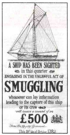 19th century SMUGGLING poster