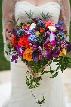 Jewel toned wedding bouquet ideas for 2016