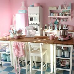 Photo by passionforbaking. What an adorable kitchen!