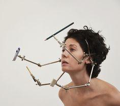 via sarahblais Vision Machines, by Joachim Rotteveel Performance Art Theatre, Tumblr, Wearable Art, Bobby Pins, Hair Accessories, Drop Earrings, People, Beauty, Instagram