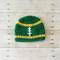 616f3ab725d Crochet Baby Football Beanie Hat NFL Team Infant Newborn Baby Toddler Child  Adult Handmade Photography Photo Prop Baby Shower Gift Present
