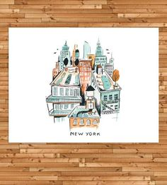 New York Rooftop Art Print by Idlewild Co. on Scoutmob