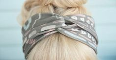 Here are two super cute DIY t-shirt headband tutorials for you. The first one is by Try it do it.  Check out her blog here  for step ...