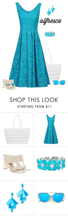 """""""Sunny Afternoon"""" by patricia-dimmick ❤ liked on Polyvore featuring BUCO, Jolie Moi, Alexander McQueen, Mixit, Oscar de la Renta and alfrescodining"""