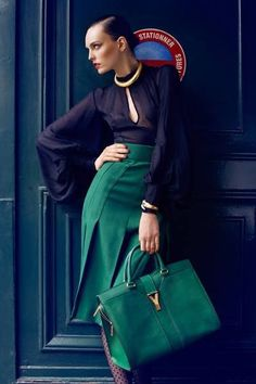 M Schiffer - bag and skirt matched!
