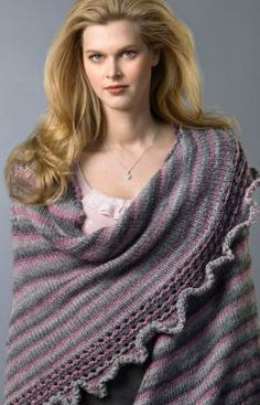 Ruffle & Wrap Free Knitting Pattern from Red Heart Yarns