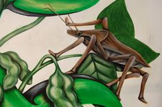 A Brown Marmorated Stink Bug that was painted for our company by Todd Groff.