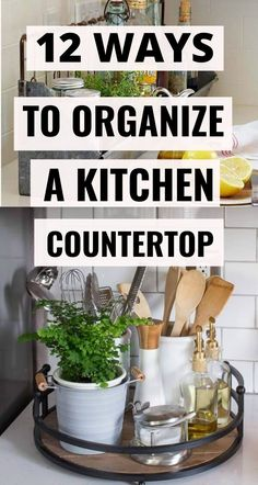Check out these 12 brilliant ways to organize your kitchen countertop and finally get rid of all that clutter! These kitchen hacks are the BEST! Farmhouse Kitchen Decor, Kitchen Redo, Kitchen Hacks, Kitchen Remodel, Kitchen Organization Pantry, Diy Kitchen Storage, Organization Hacks, Cheap Diy Home Decor, Western Kitchen