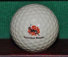 Vintage Kaluakoi Resort Hawaii Logo Golf Ball