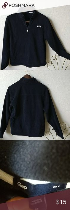 GAP • Mens Navy Pullover Navy fleece quarter zip pullover sweater. Mock neck. GAP Sweaters