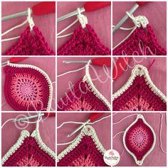 Crochet Ideas - Crochet Ideas At Your Fingertips! Crochet Mandala Pattern, Crochet Quilt, Crochet Blocks, Crochet Squares, Crochet Blanket Patterns, Crochet Art, Crochet Crafts, Crochet Doilies, Crochet Flowers