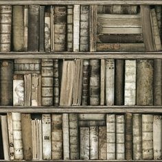 bookshelves antique bookcase books bookshelf pintado papel oeil mural koziel library wallpapers sample trompe company french hipwallpaper bound leather brick