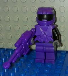 Custom Purple Lego Halo 4 Spartan Sniper Minifigure Rifle New Master Chief Fig | eBay