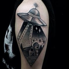 Cool UFO Tattoos That Make You Wish To Be Abducted