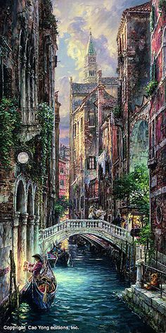 Cao Yong 'deja vu venice' I like the colors and textures of this scene.