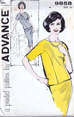 1960s Misses Two Piece Dress