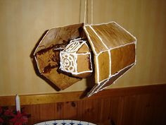 DIY directions for a Gingerbread Star Wars Tie Fighter! Star Wars Christmas, Christmas Gingerbread House, Christmas Makes, Christmas Diy, Gingerbread Houses, Gingerbread Train, Christmas Baking, Christmas Treats, Bread Art