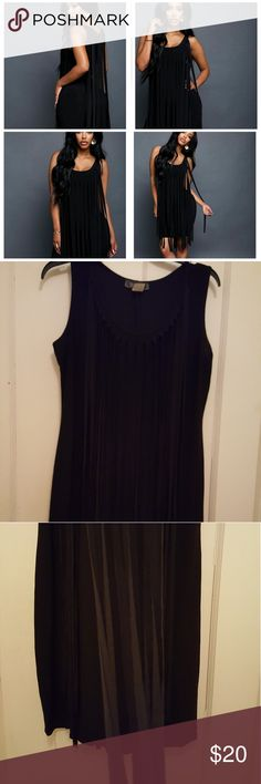 Women Dress Black women fringe dress, stretchy fit, very sexy ,100% polyester, worn once & Other Stories Dresses Mini
