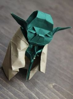 yoda origami, me quedé con la boca abierta!