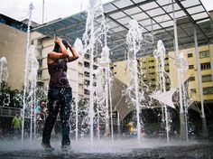 Shower of Joy | Plaza Los Palos Grandes | #Caracas http://caracasshots.blogspot.com/2012/06/shower-of-joy.html