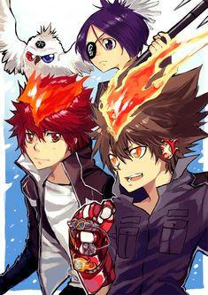 Who 's that cutie besides Tsuna-kun??