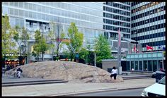 """The """"Rock"""" in Toronto's Yorkville. The """"rock"""" was purchased from a farmer in Northern Ontario, broken up in multiple pieces, then reconstructed in Yorkville. The Rock, Breakup, Farmer, Ontario, Toronto, Multi Story Building, Street View, Canada, Photography"""