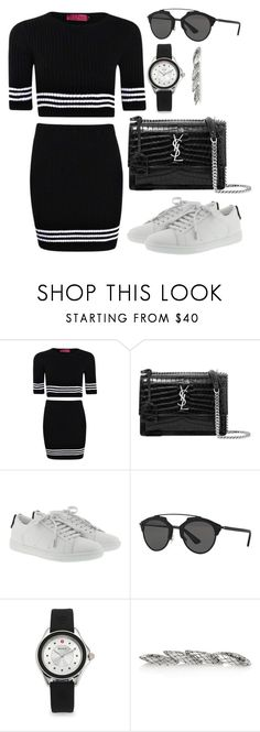 """Sem título #4901"" by beatrizvilar ❤ liked on Polyvore featuring Boohoo, Yves Saint Laurent, Christian Dior, Michele and Bottega Veneta"