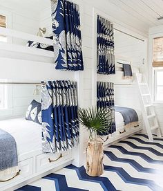 How fun is this bunk room? Sleepovers would be a dream in a fun room like this…