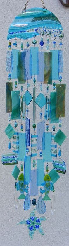 wave length wind chimes by Kirk's Glass Art
