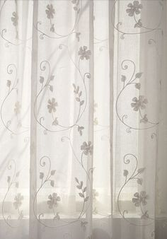 Unique White Sheer Curtains With Embroidery
