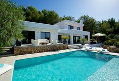 Villa Joya, surrounded by greenery, near the most beautiful beaches of Ibiza. Villa Joya is located in the Sant Josep area near the most beautiful beaches o. Ibiza Town, Ibiza Beach, Beautiful Villas, Beautiful Homes, Beautiful Beaches, Outdoor Swimming Pool, Swimming Pools, Greek House, Location Villa