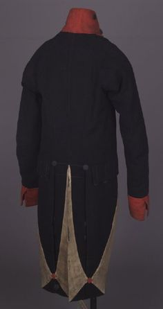 19800201.JPG  This military uniform coatee was worn by Jarvis Jackson during the War of 1812 in service with the Kentucky Militia as a lieutenant in Captain James McNiel's Company, Second Regiment, Kentucky Militia, from September 1, 1812, through October 1, 1812.