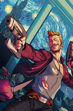 Star-Lord #1 cover by Kris Anka.
