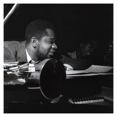 Donald Byrd and Herbie Hancock during the recording session for Byrd's Tryin' To Get Home, December 1964 (photo by Francis Wolff) Jazz Artists, Jazz Musicians, Music Artists, Friedrich Nietzsche, Bobby Hutcherson, Kenny Dorham, Jackie Mclean, Francis Wolff, A Love Supreme