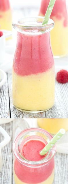 Healthy Smoothies Recipe This Mango Raspberry Sunshine Smoothie from Cooking on the Front Burner is easy to make and totally delicious. It makes a great breakfast or energizing pick-me-up drink in the afternoon! Non Alcoholic Drinks, Fun Drinks, Yummy Drinks, Healthy Drinks, Yummy Food, Cocktails, Beverages, Healthy Juices, Cocktail Recipes
