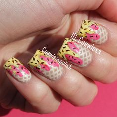 These nails do not belong to me. The sources are always credited in the credit source and you can. Love Nails, How To Do Nails, Fun Nails, Pretty Nails, Fingernail Designs, Cool Nail Designs, Ice Cream Nails, Nail Polish Blog, Nail Art Videos