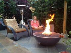 Fired Earth, Fire Table, Fire Bowls, Outdoor Living, Outdoor Decor, Concrete, Backyard, Outdoor Life, Patio