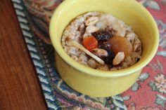 "Six microwave recipes for the college dorm cook---pictured ""Gourmet Oatmeal"""