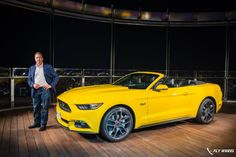 Ford Mustang GT Convertible Unveiled On The World's Tallest Building | Fly-Wheel