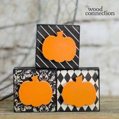 DIY Wood Pumpkin Blocks | The Wood Connection